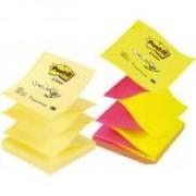 Līmlapiņas POST-IT, Z-veida sastiprinājums, 76x76mm (dzeltena/rozā)