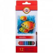Zīmuļi Akvareļu KOH-I-NOOR krāsainie (12)