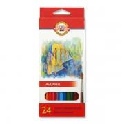 Zīmuļi Akvareļu KOH-I-NOOR krāsainie (24)