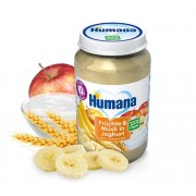 Humana BIO Ābolu, banānu biezenis ar jogurtu 190g
