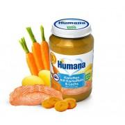 Humana BIO Burkānu, kartupeļu un laša biezenis 190g