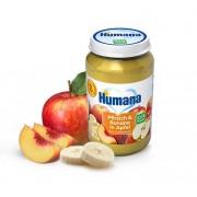 Humana BIO persiku, banānu un ābolu biezenis 190g