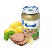Humana BIO Puķkāpostu, brokoļu, kartupeļu biezenis ar liellopu gaļu 190g